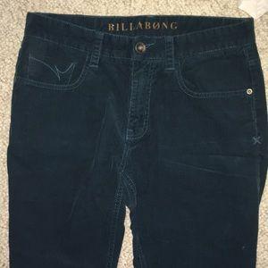 Vintage Billabong corduroy pants Teal Blue